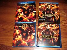 Lot of [2] The Hunger Games & Mockingjay Part 1 ;Action Blu-ray ;Complete; Mint]