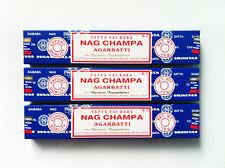 Nag Champa Satya Sai Baba Incense Sticks 15g x 3 Box Pack Authentic Original