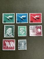 West Germany 1955 8 Pcs Stamps, Used , Very Fine Condition, See Photos