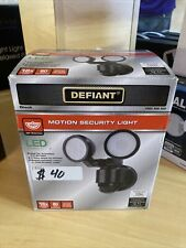 180° Black Motion Activated Outdoor LED Twin Head Flood Light by Defiant