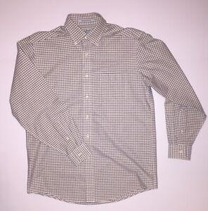 LL Bean Men's Dress Shirt 15-33 Button Front Wrinkle Resistant Multicolor Plaid
