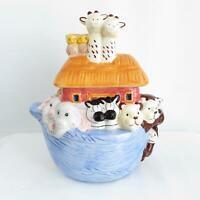Noah's Ark Cookie Jar Jay Imports Adorable Pairs of Animals All Around Boat