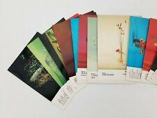 Ikebana Text Cards Nageire Flower Arrangements by Kasumi Teshigahara Vintage