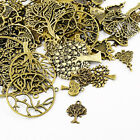 Tibetan Tree Charms Antique Bronze 5-40mm Pack Of 30g