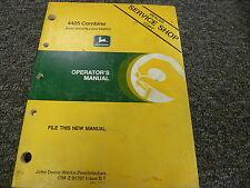John Deere 4425 Combine Owner Owner's Operator Manual User Guide OMZ91797