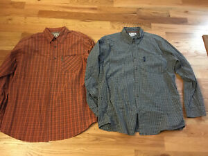 2 Mens Columbia Shirts Size XL Barely Worn!