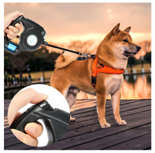 4.5M Pet Dog Leash Flashlight Extendable Retractable Pet Lead With Garbage Bag