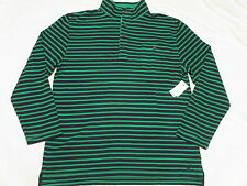 $79 NWT Mens Nautica Slim Fit French Rib Mock Neck Henley Sweater XXL 2XL M721