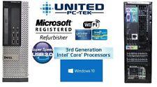 Dell OptiPlex 7010 SFF PC 8G 250G Windows 10 USB 3.0 Intel i5 Quad Core WiFi