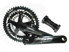 FSA OMEGA 50/39/30T Road Bike Crankset 175mm Triple 10Speed MegaExo Black Color