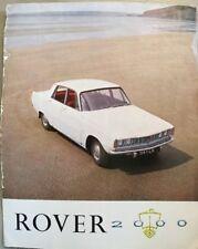 Rover 2000 Car Brochure - c1965
