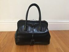 Authentic Prada Leather Madras Cerniera Doctor Bag Vintage Collector Item