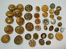 40 Vintage Metal Buttons
