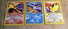 Pokemon Legendary Birds Promo SET - Moltres, Articuno and Zapdos - Excellent