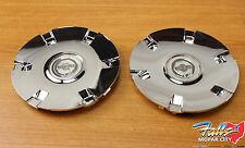 2004 Chrysler Pacifica Set Of 2 Chrome Wheel Center Caps Mopar OEM