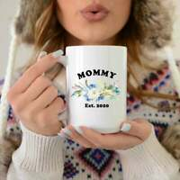Mommy Coffee Mug Mother's Day Gift New Mom Gift Pregnancy Reveal Mug Baby