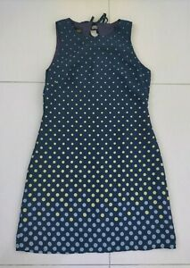 Donna Ricco New York Petite Size 2 US Top Dress - Navy with Dots