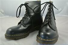 DOC MARTENS BLACK NEW (UK9) 7 HOLE LEATHER BOOTS WORK MADE IN ENGLAND