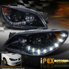 For 2006-2007 Subaru Impreza [Smoked Black] WRX STi LED DRL Projector Headlights