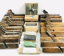 Old Antique Vintage Wooden Wood Plane Planer Tools Carpentry Props Display