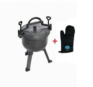 Gusseisen Feuertopf 8L Deckel Bräter Feuerkessel Kochtopf Lagerfeuer Dutch Oven