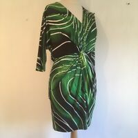 """STAR Julien Macdonald Dress UK 12 Green Occasion Length 36"""""""