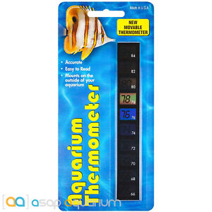 Stick On Aquarium Thermometer Moveable Self Adhesive Vertical Thermal Strip