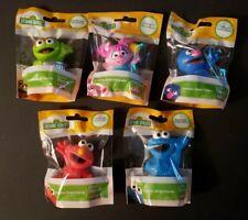 (5) Sesame StreetMini Figure Cake Topper Cookie Monster Elmo Abby Grover Oscar
