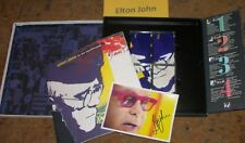 ELTON JOHN to be continued NICE 4 CD's & Book ,Autographed Photo Collectible