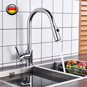 Küchenarmatur ausziehbar Wasserhahn 360° Spültischarmatur für Küche