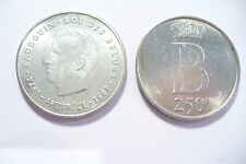 SUPERBE  MONNAIE  BELGIQUE ARGENT Légende FRANCE 250 FRS 1976  / 25 gr. !!