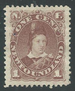NEWFOUNDLAND #41 Unused - 1c violet brown XF
