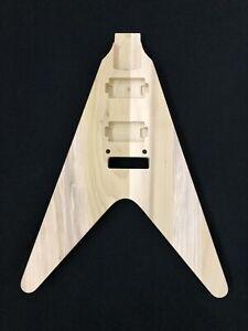 Unfinished Classic V 22 Fret Guitar Body In Poplar Wood