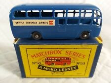 MATCHBOX NO 58A BEA COACH ISSUED 1958 + BOX IN ORIGINAL CONDITION