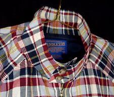 Pendleton Light Coat Blouson Jacket Red Blue White Plaid Sz L