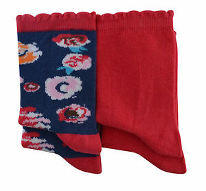 Girls socks  90% soft cotton Various sizes red mix