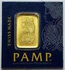 1 Gram Gold Bar - Pamp Suisse Multigram in Assay New
