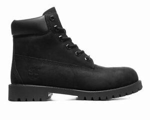 Sale Timberland 6 Inch Premium Waterproof 12907 Junior's Leather Boots Black