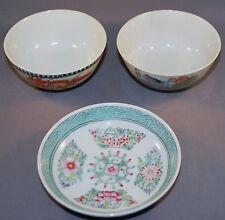 Vintage Japanese Set 3 Bowls  Dishes Made In Japan Porcelain Bowls