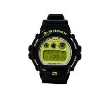 RARE Casio G-Shock Watch DW6900CS-1 Black w/ Green Face