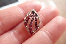 Lovely 9ct White Gold Ruby & Diamond Beautiful Pendant
