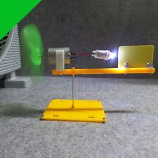 Micro Wind Turbines Generator Small DC Motor Blades W/Holder DIY Project Kit DT