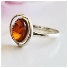 BALTIC AMBER 100% 925 STERLING SILVER RING NATURAL Honey Amber  1.4 gram SZ 7.75
