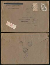 FRENCH GUINEA REGISTERED 1939 INCOMING MAIL REDIRECTED UMC ENVELOPE GUINEE