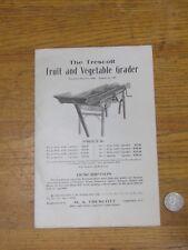 1908 Original sales flyer THE TRESCOTT fruit and vegetable grader
