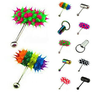 Steel Tongue Bars Vibrating Stud Barbell Rings Mixed Body Piercing Jewellery .