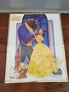 Vintage Framed Beauty And The Beast Walt Disney 20x16 Movie Poster #82018