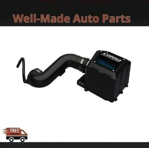 Corsa For Chevy/GMC Closed Box Steel Wrinkle Black Cold Air Intake System 45953