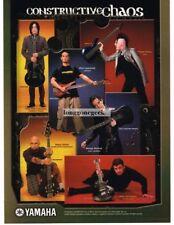 2002 YAMAHA Electric Guitars and Bass PAIGE HALEY JASON SLATER more Vtg Print Ad