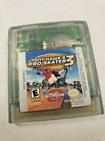 Tony Hawk's Pro Skater 3 (2001) Nintendo Gameboy Color-Advance-Sp Game Cartridge